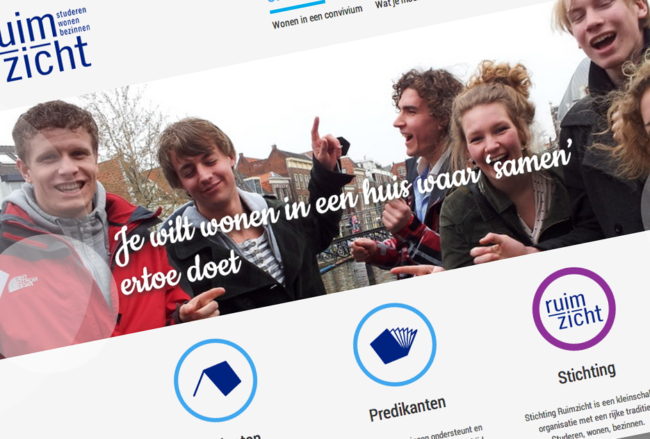 nieuwe website van Ruimzicht